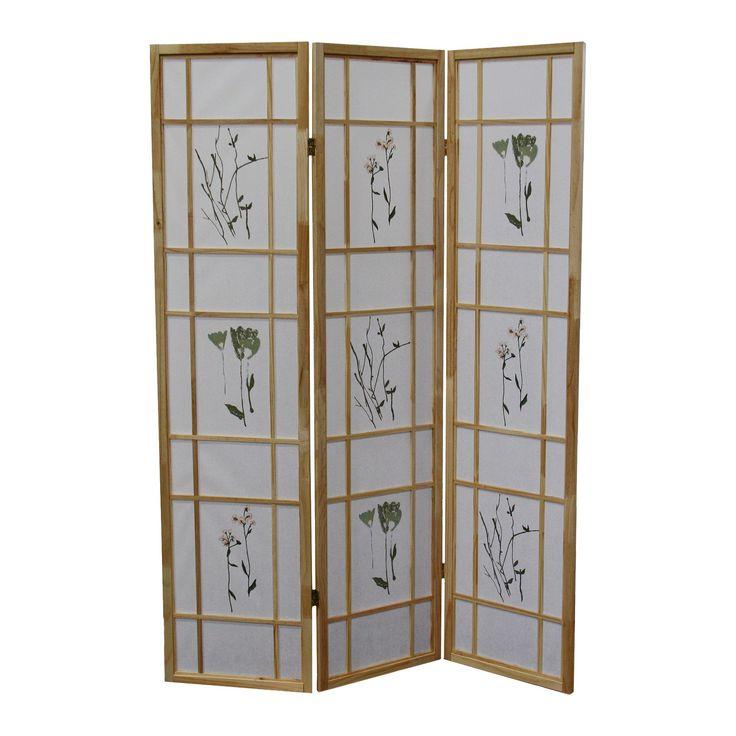 3 Panel Room Divider Natural - Ore International