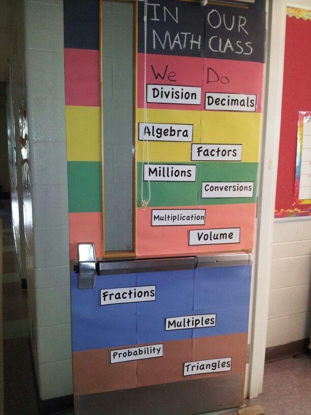 Classroom Decoration For Grade 5 : Math door decoration classroom ideas pinterest