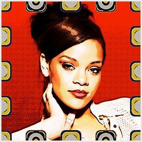 Rihanna - Quadrinhos confeccionados em Azulejo no tamanho 15x15 cm.Tem um ganchinho no verso para fixar na parede. Inspirados em propagandas antigas. Para entrar em contato conosco, acesse: www.babadocerto.com.br
