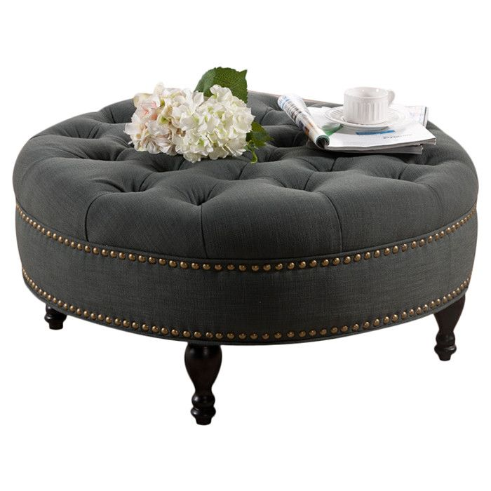 tufted round ottoman in - photo #7