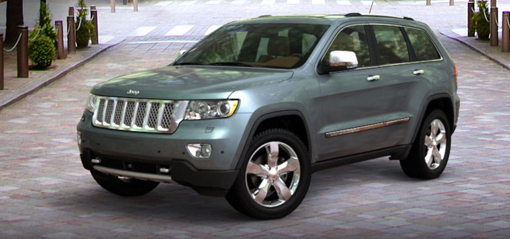 Jeep Grand Cherokee 2013 SUV 4x4.  Like the shape used to have one thinking about buying
