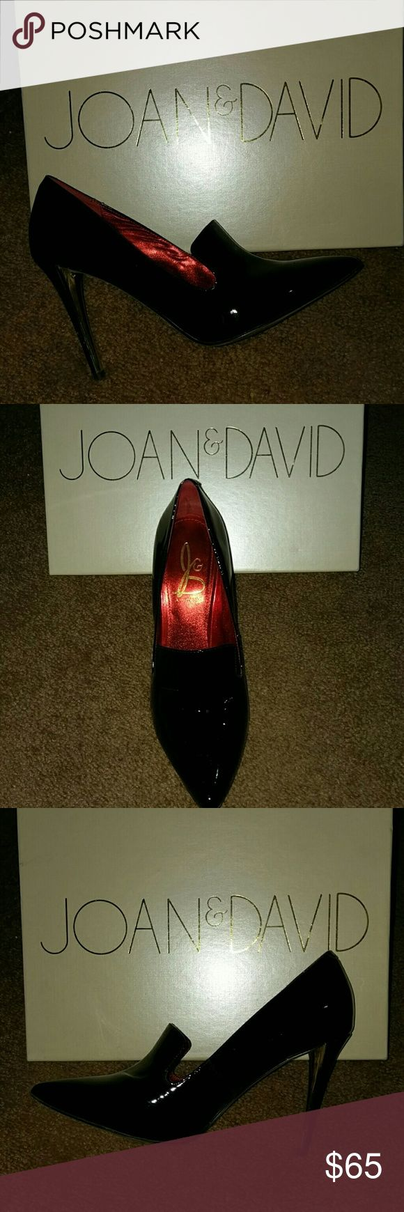 Joan and David great condition with box Black patent leather very well kept Joan & David Shoes Heels