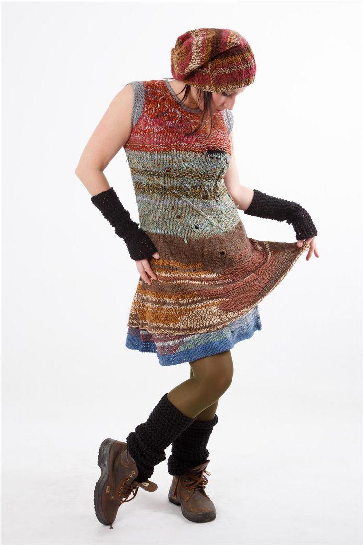 Šaty hnědé melír č. 131102