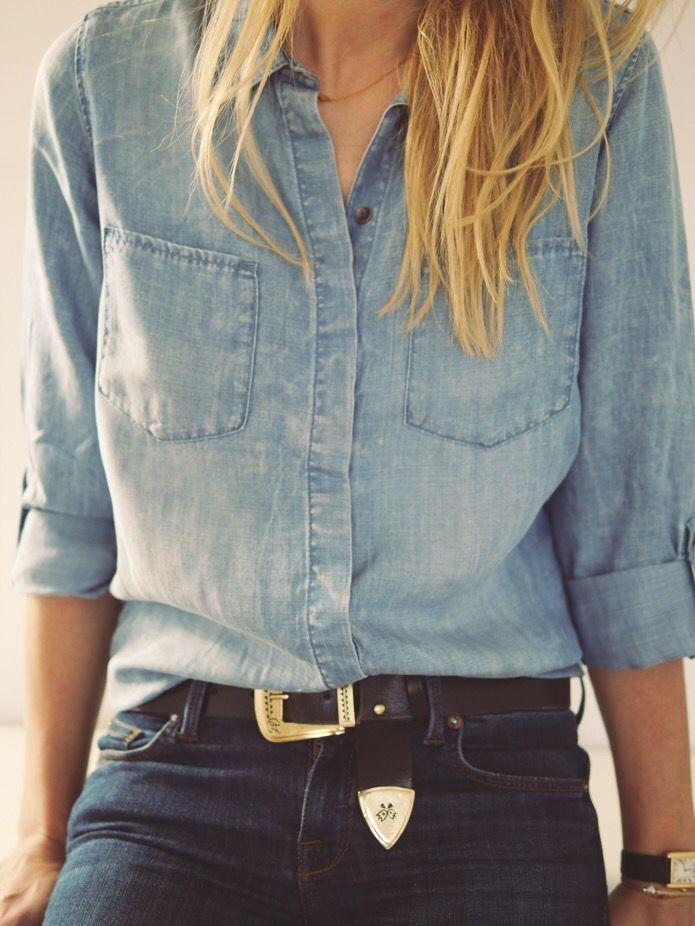 Style...Camilla Pihl // all denim casual style