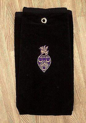 Palmer Chiropractic College Black Golf Towel ~ 25 ~ Davenport, IA Iowa