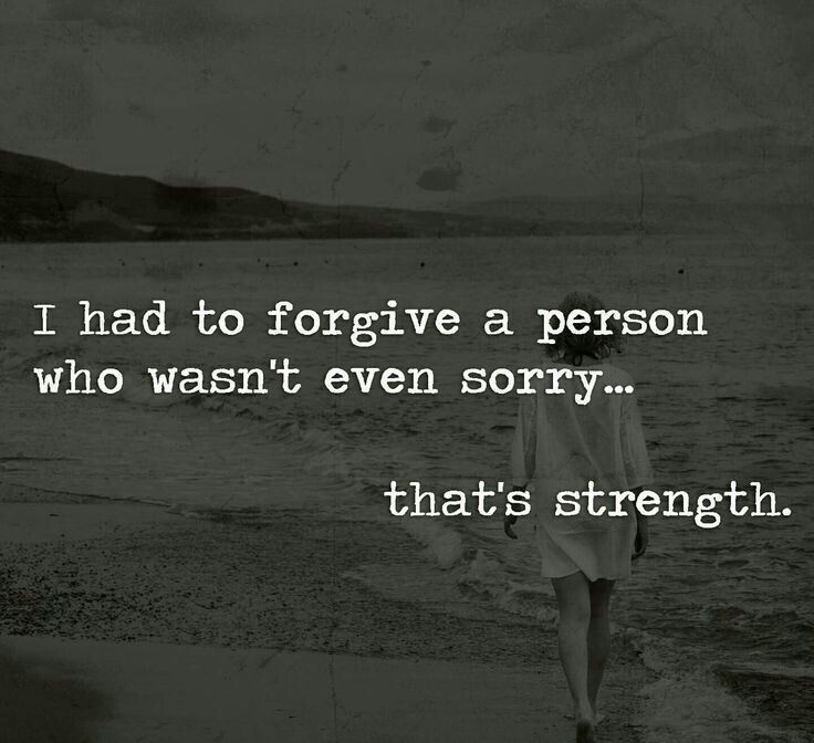 I see this type of quote a lot, but it isn't biblical. Being sorry (repentance for an offense) is required for true forgiveness to be granted. Luke 17:3, Matthew 18:15 Letting go & letting God handle an offender is often necessary because an apology or change of heart will never come; however, true forgiveness is being able to go forward in a relationship as if the wrong never happened. God only requires this if repentance occurs. He doesn't require us to be okay with continued mistreatment.