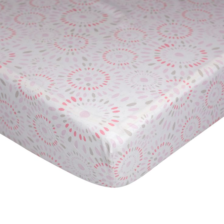 Lolli Living Pink Confetti Fitted Crib Sheet