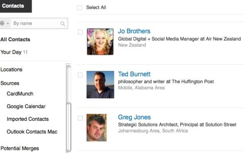 How to Use the LinkedIn Contacts Feature: Sync; Manage; Search; Mapping; Curate; Reminders; more...