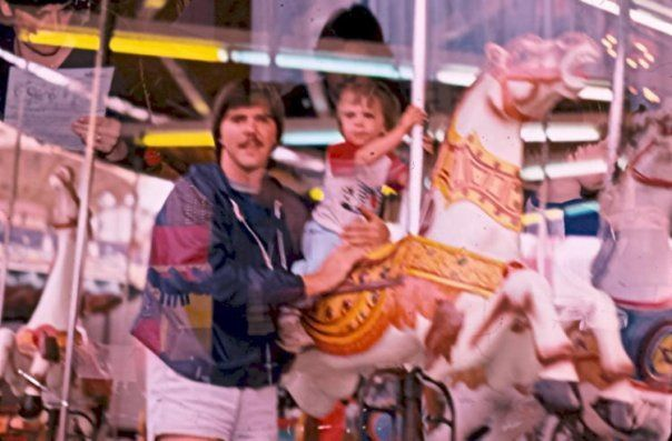 Darcy and Tyler on carousel #2