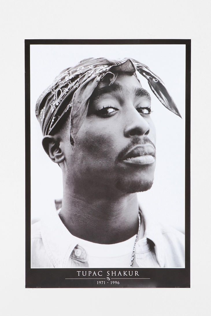DAMMIT!  Of COURSE I thought I was being original and naturally there is a poster on freaking urban outfitters.  I was inspired by watching his documentary recently.  Tupac Poster