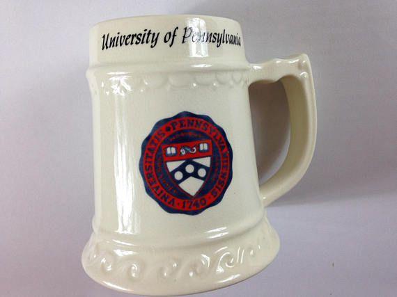 Pennsylvania University Stein Large Mug Penn Quakers Cup Beer Alumni Student http://etsy.me/2tkFgtK #vintage #etsy #gopenn #quakernation