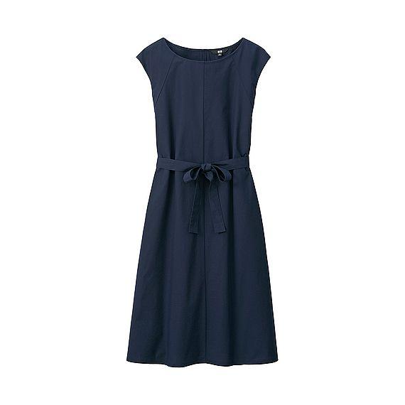 WOMEN Crisp Cotton Sleeveless Dress