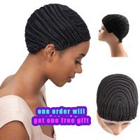 Hot Sale Wig Caps For Making Wigs Cornrows Wig Cap With Adjustable Stretch 2Pcs Wig Sewing Cap Crochet braids Wigs Cap 2pcs/Lot