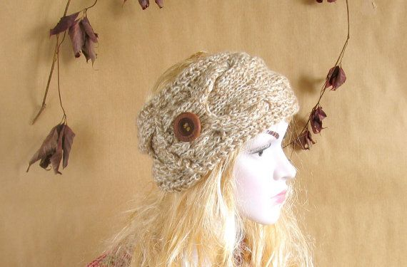 Knitted Bow Headband, Knitted Headband, Oversized Bow Headband, Cute and Cosy Ear Warmer