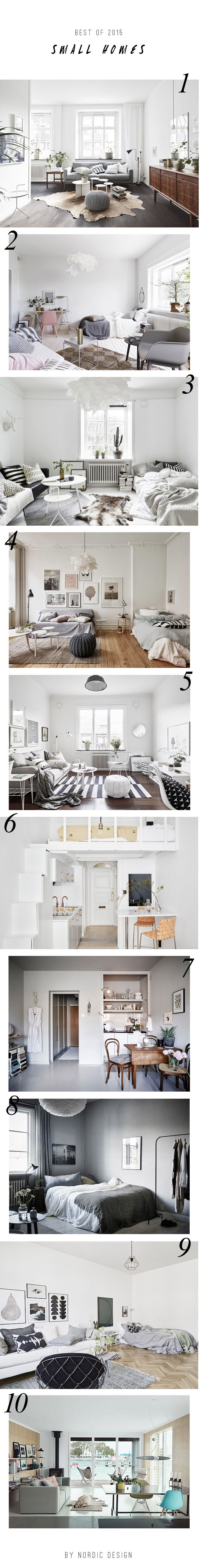 10 beautiful small homes styled the Scandinavian way   Best of 2015 - Nordic Design