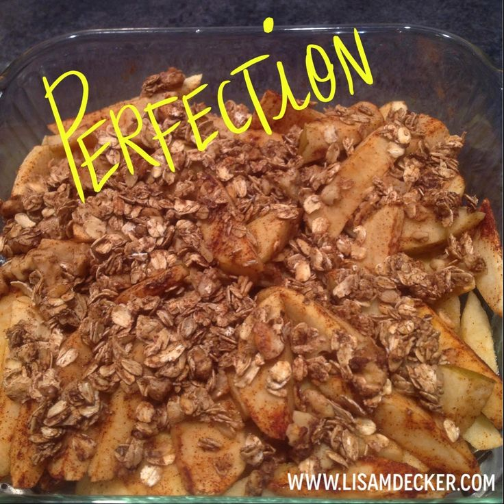 Healthy Desserts, Fall Recipes, Baked Apple Crisp