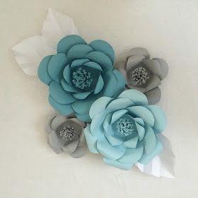 Depois da febre dos pompons de folhas de seda, agora é a vez das flores gigantes de papel!Já é um sucesso nas decorações de festas em vár...