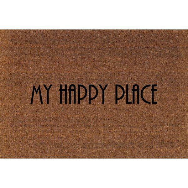 my happy place door mat coir doormat rug 2 x 2 11 24 inches x