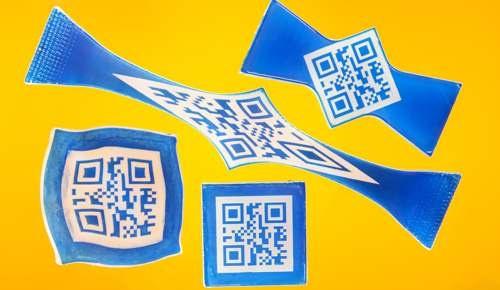 QR Code è una etichetta anticontraffazione per la società tedesca Bayer Material Science e BMA.         QR Code is an anti-counterfeiting label for Bayer MaterialScience and BMA