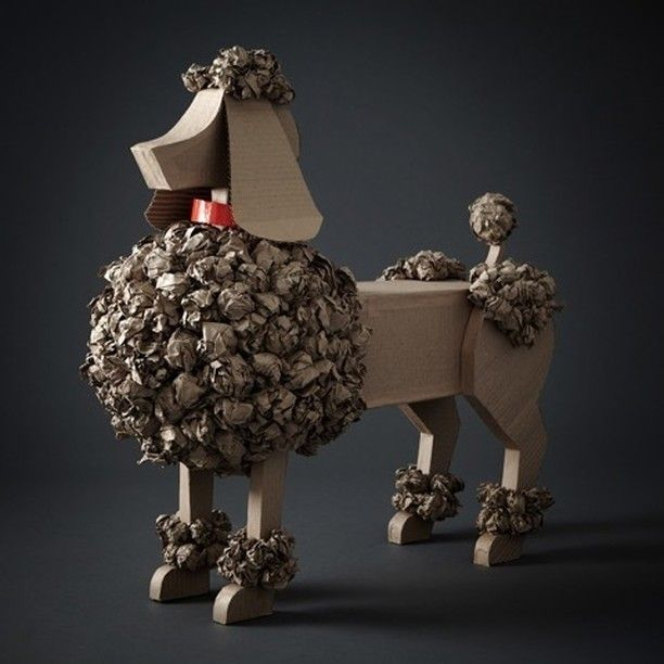"NEIMAN MARCUS, ""Poodle"", (Recycled materials), creative by Loran Thrasher, pinned by Ton van der Veer"