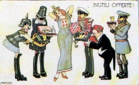 Corteggiamento italia - Neutralità italiana (1914-1915) - Wikipedia