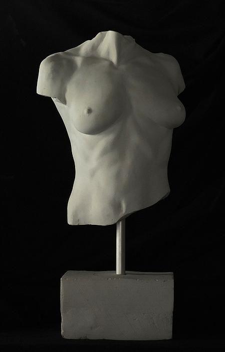 Life Size Female Torso Sculpture by Frank Rekrut