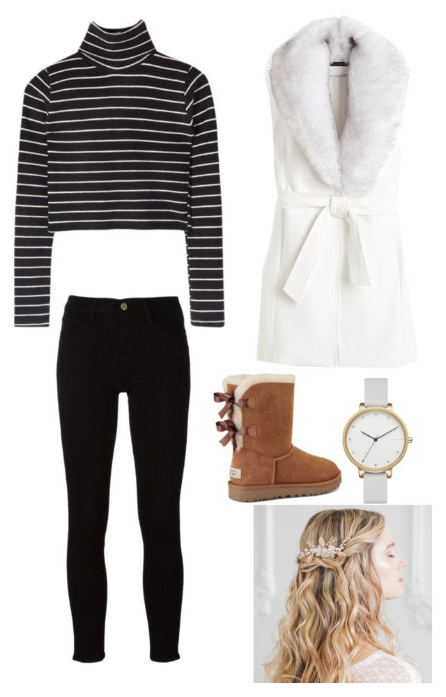 """Untitled #198"" by rekac on Polyvore featuring White House Black Market, Frame, UGG and Skagen"