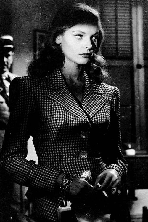 Lauren Bacall in To Have and Have Not. The future Slim Keith advised on wardrobe. Better yet, she and Bacall became lifelong friends. KA