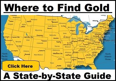 Gold prospecting, state by state
