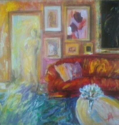 Interior 3 Acrylics on cardboard, 30/30cm 2014
