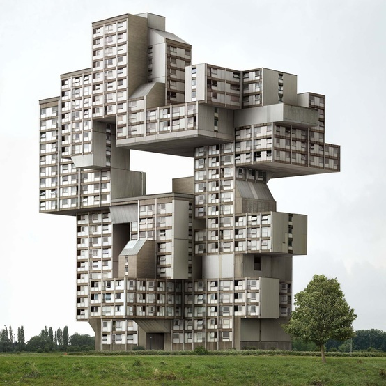 The Belgian photographer Filip Dujardin manages to show his attraction for architecture through his superb stereotypes.