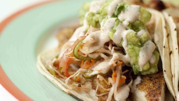 Fish tacos blackened wahoo tacos with chayote jicama slaw for Wahoo fish taco recipe