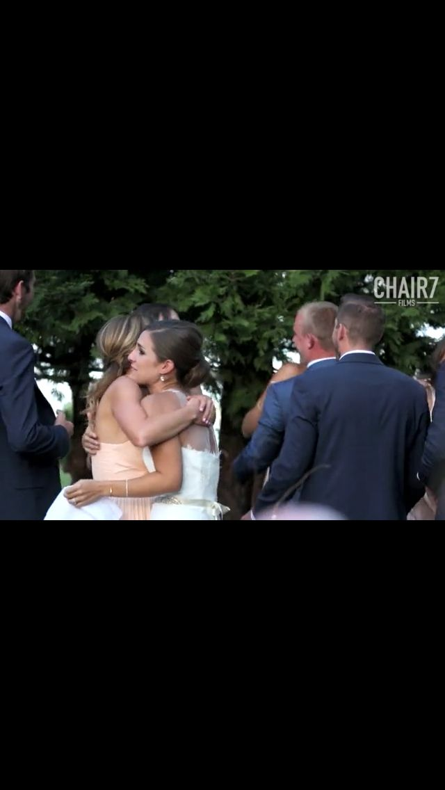 Sisters Giving Funny Wedding Speech Song I Love The Bridesmaid Dresses Brides Gown
