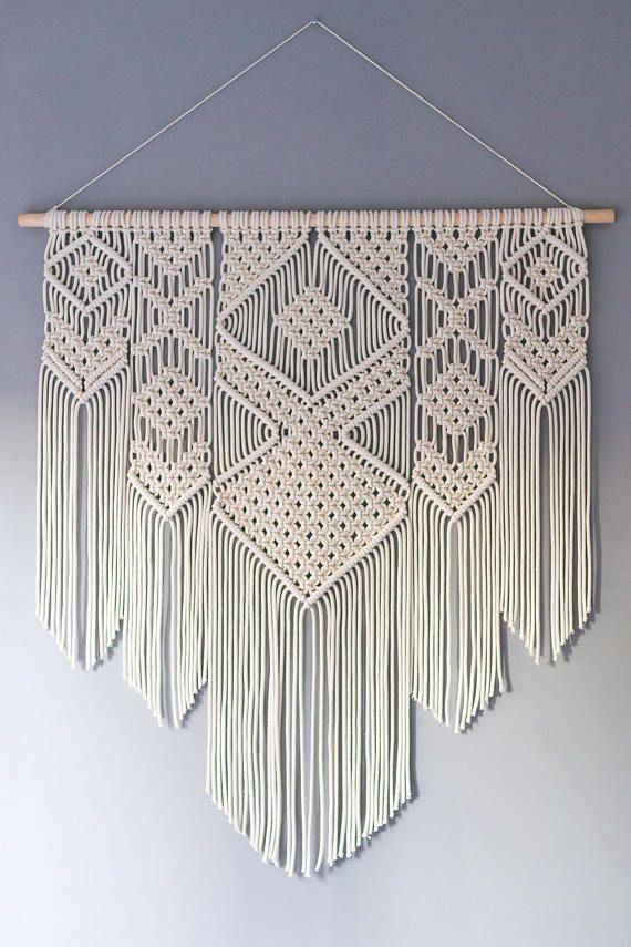 Large macrame wall hanging / Woven tapestry wall hanging / Bohemian wall art – Judy Spyker