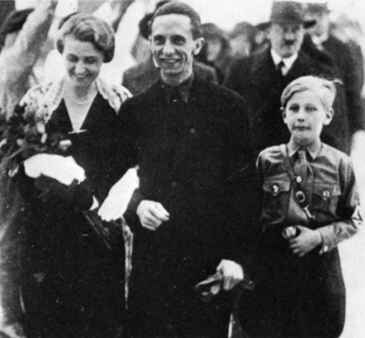Goebbels liked to surround himself with the shortest SA men he could find to give him the illusion of great height.
