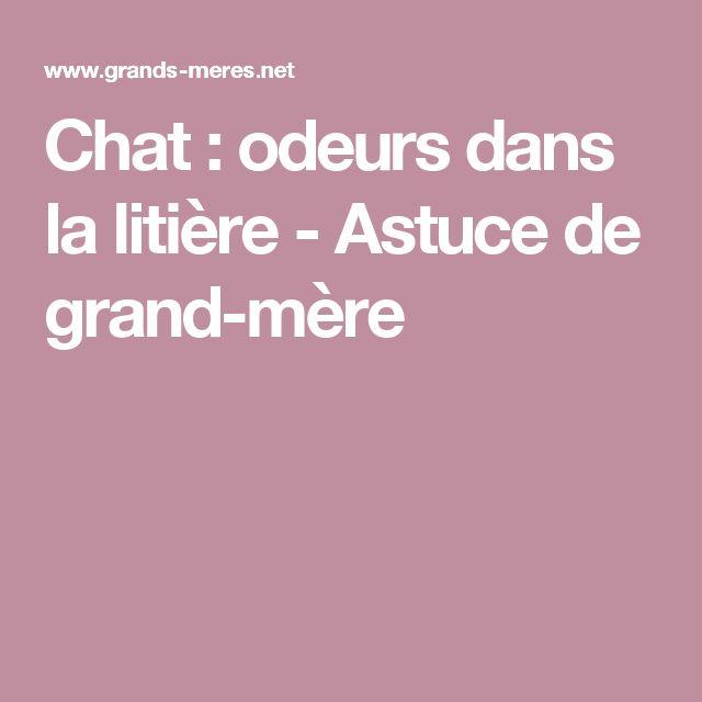 Chat : odeurs dans la litière - Astuce de grand-mère