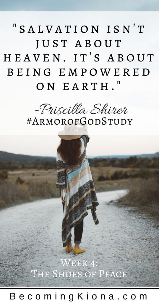 Are you ready to go? Have you donned the shoes of peace? Join us as we study Week 4 of Priscilla Shirer's the Armor of God.