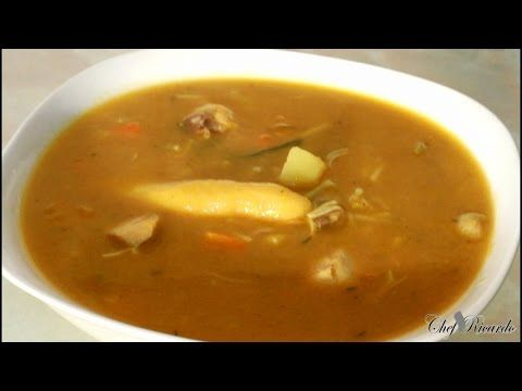 Jamaican Chicken Soup Recipe Video The Best in World - YouTube