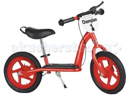 """Small Rider Champion Deluxe самокат  — 4020р. ------------------  Small Rider Champion Deluxe имеет столько функций, что можно сказать, что это почти что полноценный детский велосипед без педалей.  Особенности:  Надувные колеса 12' радиус; Ручной тормоз; Широкая платформа, куда ребенок может поставить ноги, оттолкнувшись от земли; Регулировка высоты сиденья без инструмента (руля с инструментом); Подножка; Ручка-переноска; Новая опция - 2 брызговичка;  Эффектный дизайн и табличка """"Champion""""…"""