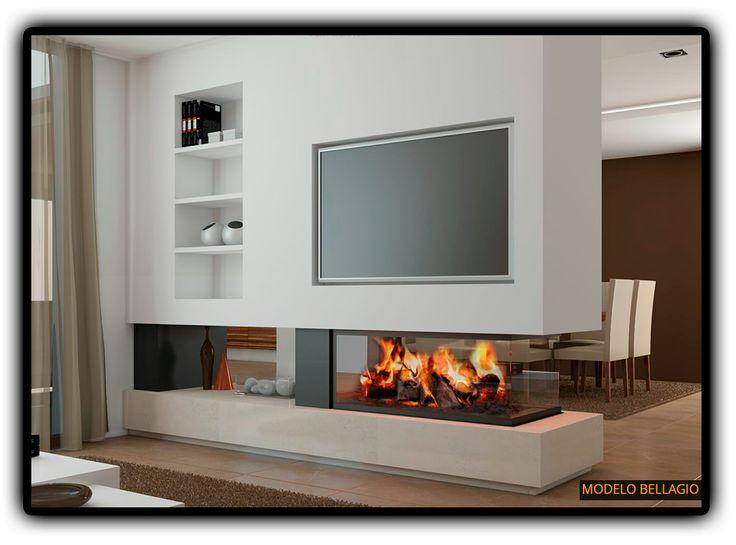 Chimeneas modernas de diseño - Chimeneas Magma                                                                                                                                                     Más