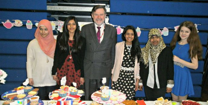 Barry Gardiner MP joins Team Ignite at Claremont High School for Wings of Hope Tea Party.