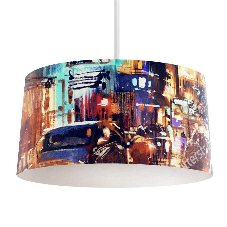 Lampenkap Night street | Bestel lampenkappen voorzien van digitale print op hoogwaardige kunststof vandaag nog bij YouPri. Verkrijgbaar in verschillende maten en geschikt voor diverse ruimtes. Te bestellen met een eigen afbeelding of een print uit onze collectie.  #lampenkap #lampenkappen #lamp #interieur #interieurdesign #woonruimte #slaapkamer #maken #pimpen #diy #modern #bekleden #design #foto #kunst #art #schilderij #schilderen #kunstwerk #nacht