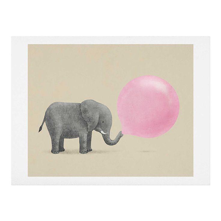 Deny Designs Terry Fan Jumbo Bubble Gum Wall Art