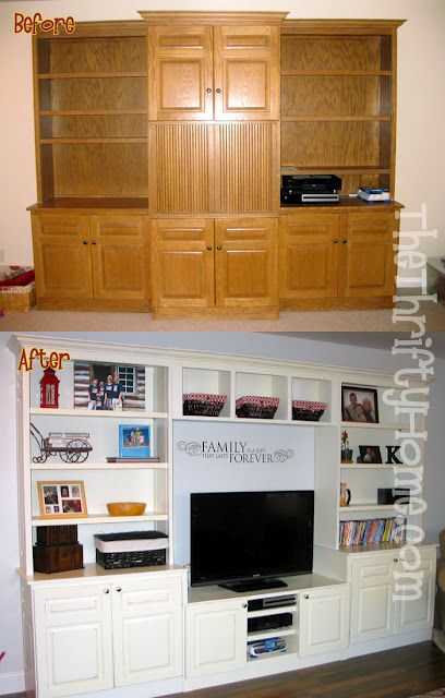 Update entertainment center.  http://www.thethriftyhome.com/2012/09/my-kitchen-great-room-makeover.html