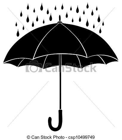 Banco de ilustração - silhuetas, guarda-chuva, chuva - estoque de ilustração, ilustrações royalty free, banco de ícone clip arte, ícones clip, logotipo, linha arte, fotos, gráfico, gráficos, desenho, desenhos, artwork