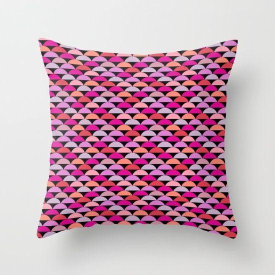 Retro Chic - Bright Throw Pillow