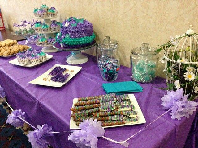 Purple And Teal Garden Baby Shower Baby Shower Ideas