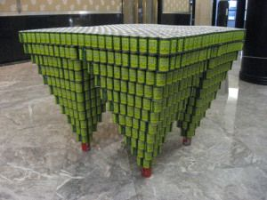 Canstruction Real World Math Problem  How many cans are there?  Solve real-life and mathematical problems involving angle measure, area, surface area, and volume. Construct and compare linear, quadratic, and exponential models and solve problems.
