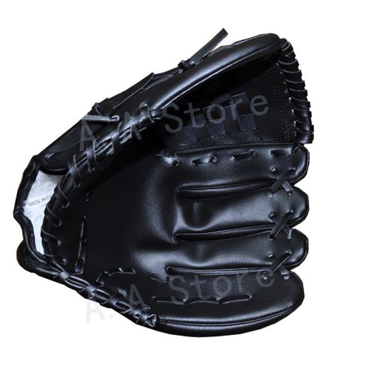 Anyfashion Baseball Gloves New Portable Dark Brown Durable Men Softball Baseball Glove Sports Player Preferred 12.5 inch