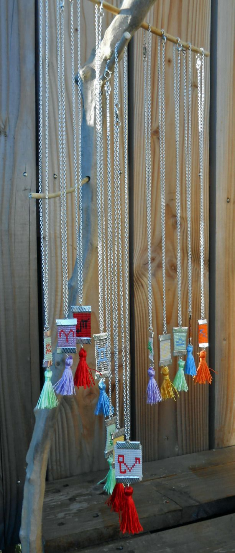 Colliers tissés signes astrologiques perles de miyuki cadeaux Noël : Collier par couleur-grenadine33